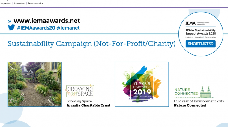 Sustainability Campaign Shortlisted!