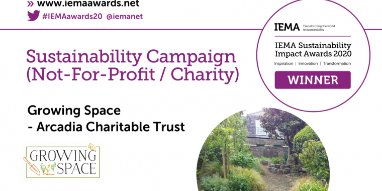 IEMA winner twitter cards - Sustainability Campaign Not for profit charity